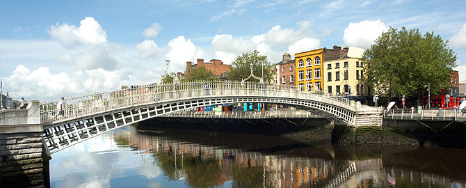 Bridge over the Liffey in Dublin