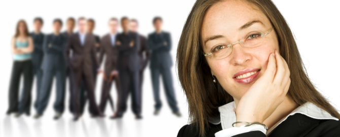 Woman and team iStock_000000840648Small