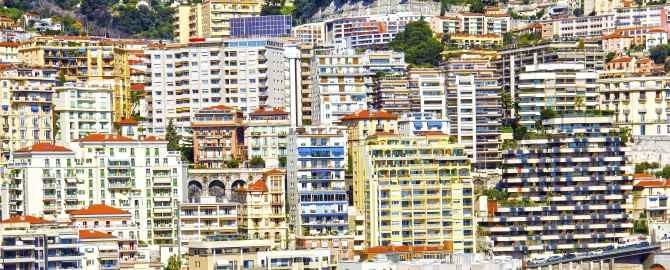 Buildings in Monte Carlo, Monaco