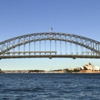 Sydney Harbour Bridge plus opera house.
