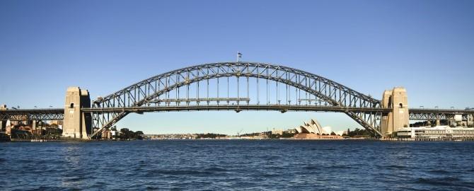 Sydney Harbour Bridge plus opera house.