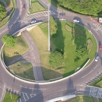 Roundabout from the air