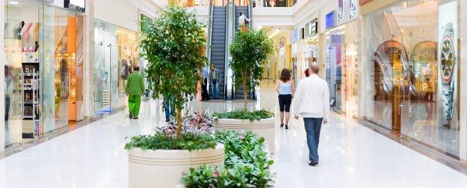 Shopping hall #4. Motion blur