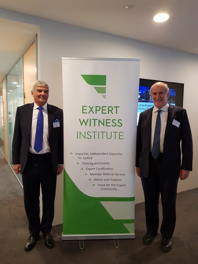 Dr Thomas Walford and Chris Easton at the Inaugural EWI Singapore Conference