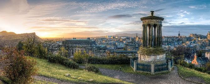 Sun over Edinburgh